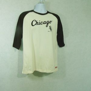 Stitches Chicago White Sox T-Shirt 3/4 Sleeves XL